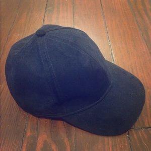 Black Suede Ballcap